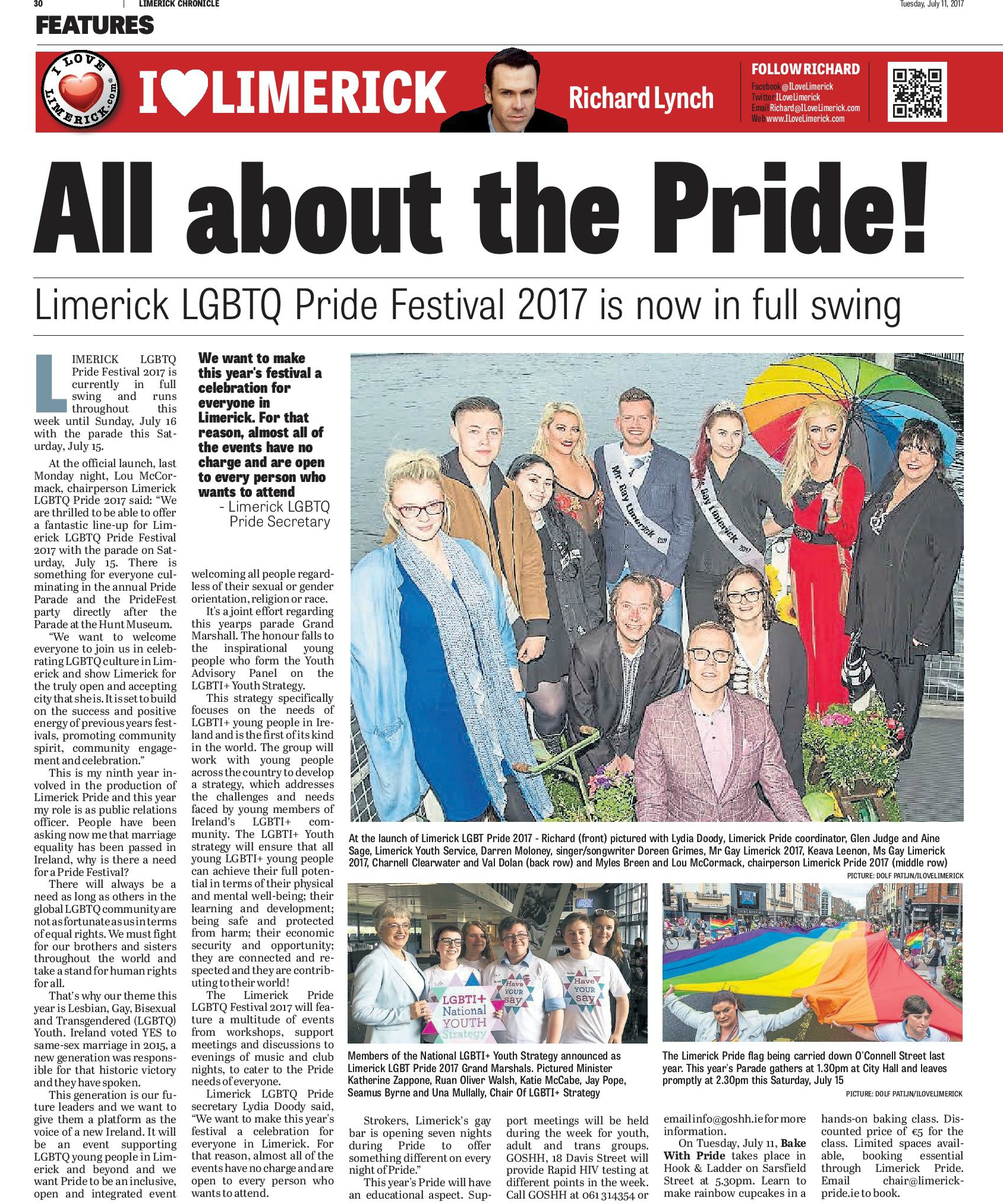 Limerick Chronicle Column July 11 pg 1